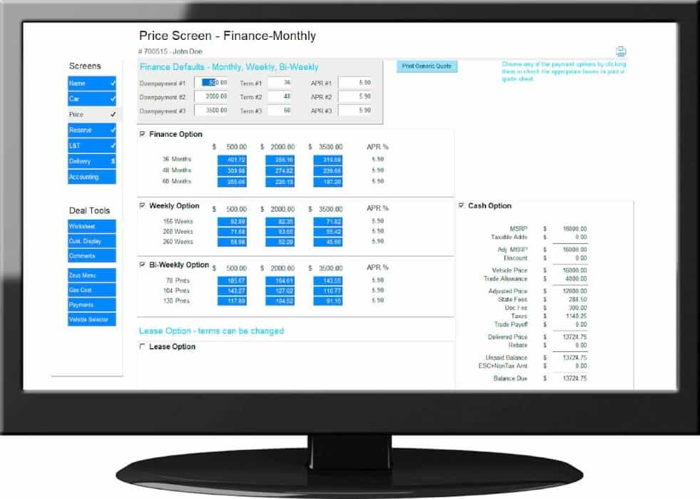 Auto Dealership Finance Software